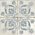 Xile Patterned Blue Floor And Wall Tiles