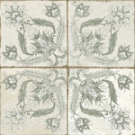 Xile Patterned Sage Floor And Wall Tiles