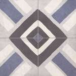 Yaris Hazed Blue Patterned Tiles