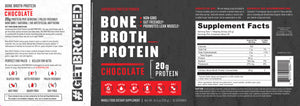 GetBrothed Bone Broth Protein™ - 12- Pack - 360 Servings Chocolate