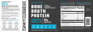 GetBrothed Bone Broth Protein™ - 12- Pack - 360 Servings Vanilla