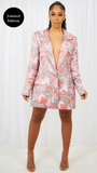 PINK OVERSIZE BLAZER DRESS MADE TO ORER
