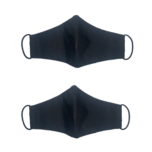 Black Protective Face Mask with Slit for Personal Filter