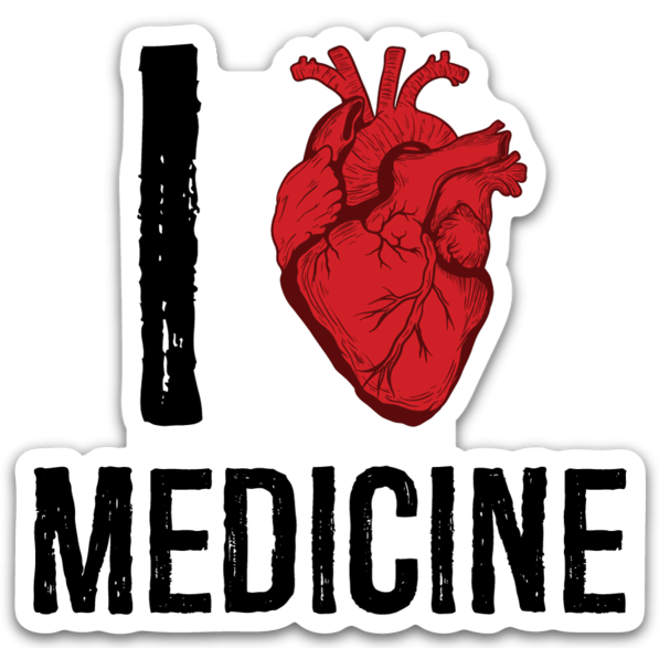 I Heart Medicine Sticker