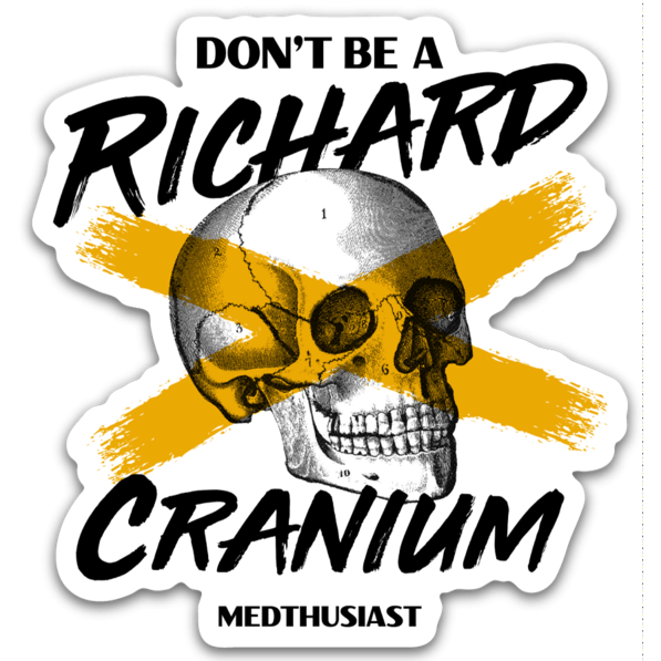 Don't Be a Richard Cranium Sticker