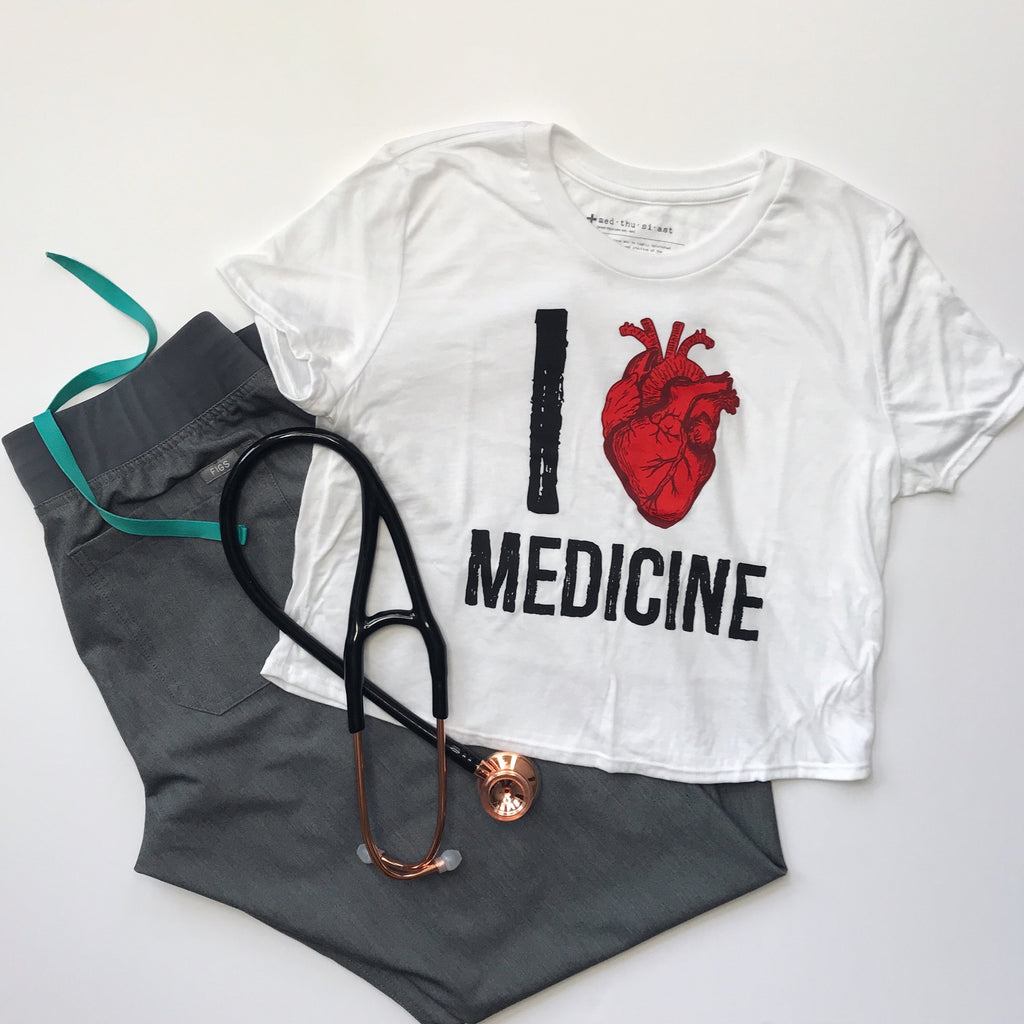 I Heart Medicine Cropped Tee