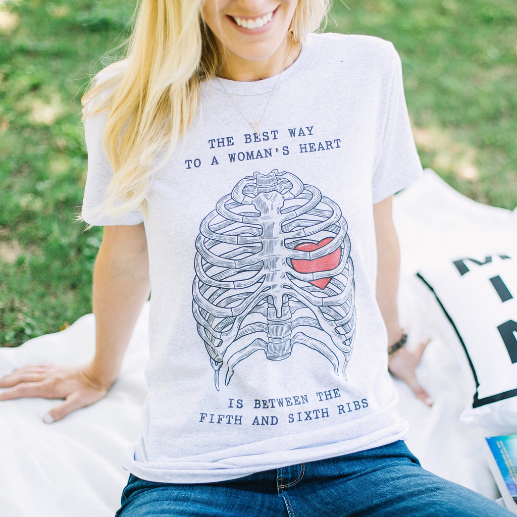 Best Way to a Woman's Heart Triblend Tee
