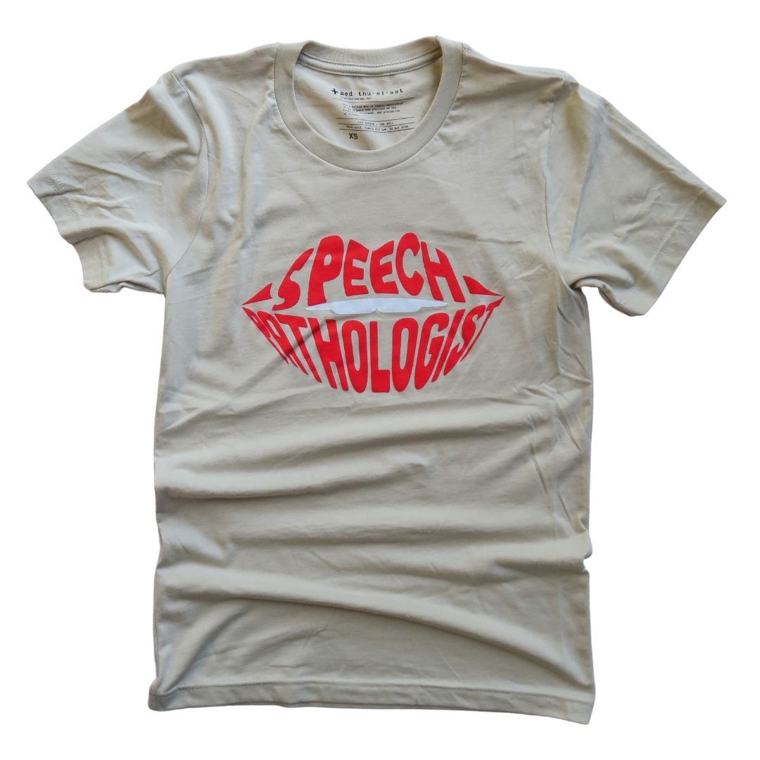 Speech Pathologist Typography Tee - FINAL SALE