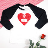 Be Mine Kids Raglan Shirt - Ice Cream Life