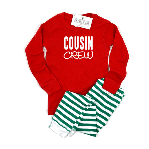 COUSIN CREW PAJAMA SET (BABY, TODDLER, YOUTH) **PREORDER ENDS 12/9**