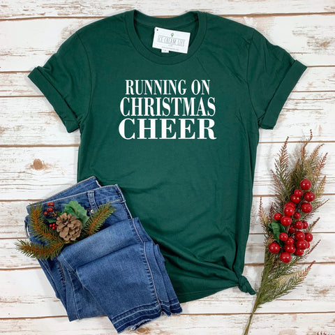 RUNNING ON CHRISTMAS CHEER ADULT SHIRT - Ice Cream Life
