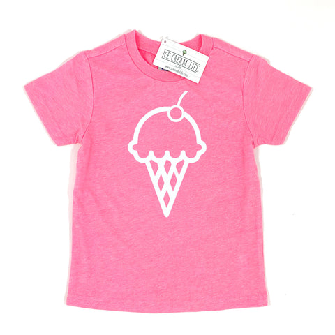 ICE CREAM CONE KID SHIRT - PINK