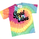 GOOD VIBES KIDS TIE DYE SHIRT