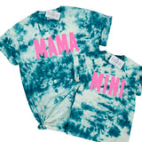 MINI TEAL TIE DYE SHIRT - YOUTH SIZES 4 AND UP