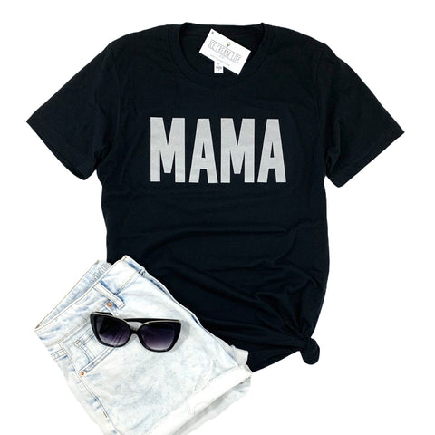 MAMA METALLIC SILVER SHIRT