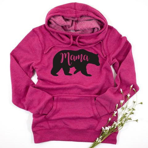 MAMA BEAR WOMENS HOODIE SWEATSHIRT - Ice Cream Life
