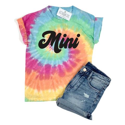 MINI RAINBOW TIE DYE SHIRT - YOUTH SIZES 4 AND UP