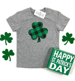 PLAID SHAMROCK - KIDS TEE - Ice Cream Life
