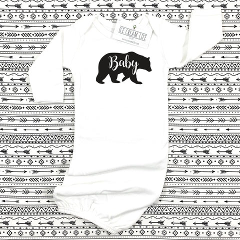 baby bear outfit baby gown sleeper