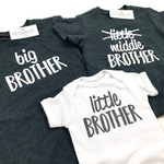 BIG AND MIDDLE BROTHER ANNOUNCEMENT SHIRTS - SET OF 2 SHIRTS