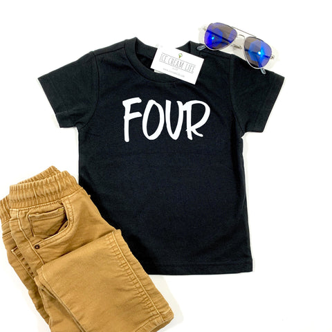 FOUR SHIRT - 4TH BIRTHDAY KIDS TEE