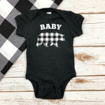 BABY BEAR ONESIE BODYSUIT - SHORT SLEEVE OR LONG SLEEVE
