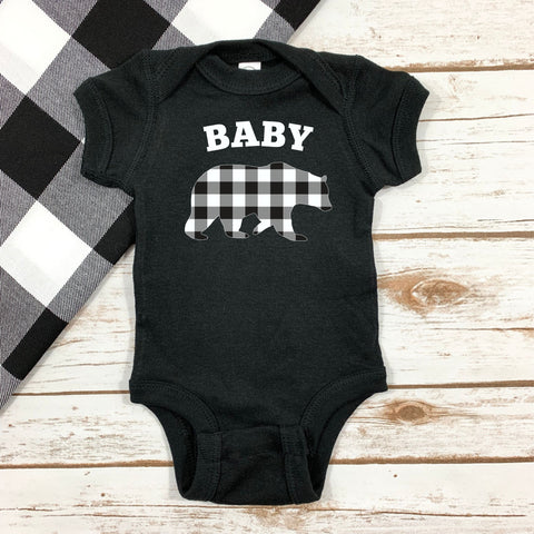 BABY BEAR BODYSUIT - SHORT SLEEVE OR LONG SLEEVE - Ice Cream Life