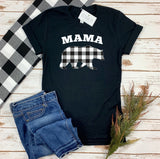 MAMA BEAR BUFFALO PLAID ADULT SHIRT
