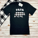 PAPA BEAR BUFFALO PLAID ADULT SHIRT