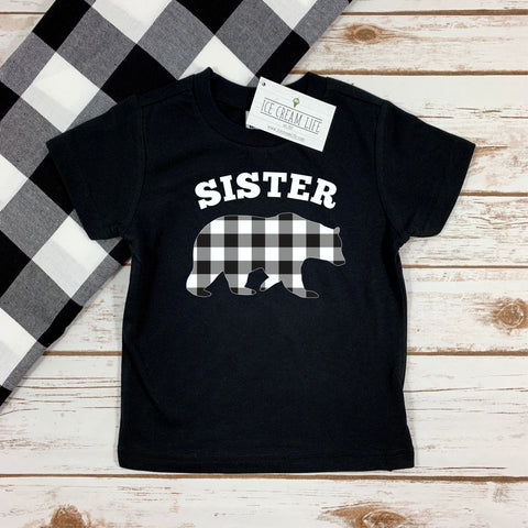 SISTER BEAR BUFFALO PLAID KIDS SHIRT