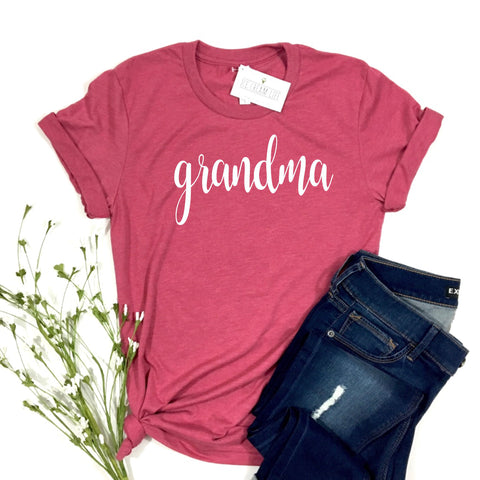 GRANDMA RASPBERRY SHIRT