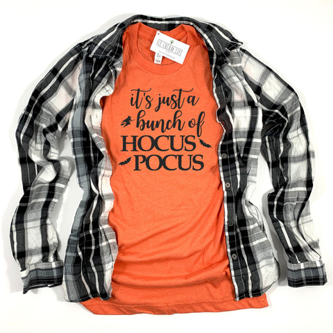 HOCUS POCUS ADULT SHIRT - ORANGE - Ice Cream Life