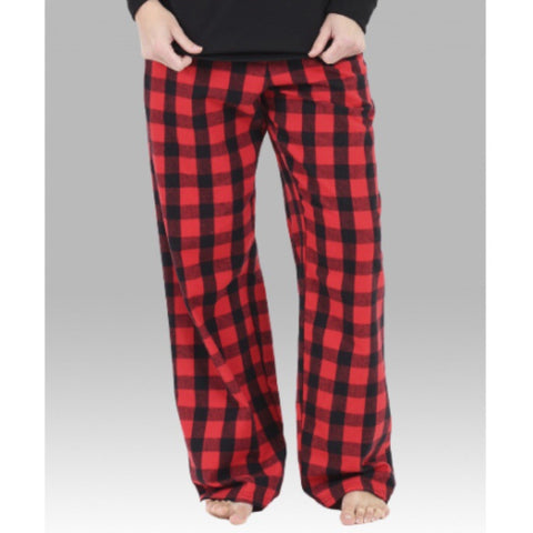RED & BLACK BUFFALO PLAID FLANNEL PAJAMA PANTS - YOUTH AND ADULT - Ice Cream Life