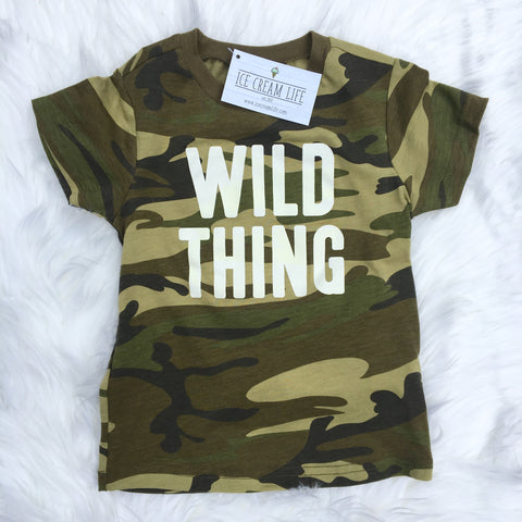 WILD THING CAMO KID SHIRT - Ice Cream Life