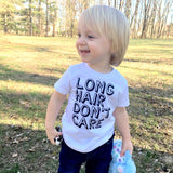 LONG HAIR DON'T CARE KID SHIRT - Ice Cream Life