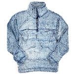 SHERPA QUARTER ZIP PULLOVER - FROSTY NAVY - ADULT AND YOUTH SIZES