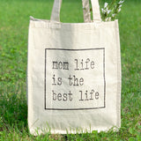 MOM LIFE IS THE BEST LIFE JUMBO CANVAS TOTE BAG - Ice Cream Life