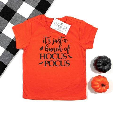 HOCUS POCUS KIDS SHIRT - ORANGE - Ice Cream Life