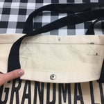 GRANDMA LIFE BLACK STRAP CANVAS TOTE BAG - Ice Cream Life