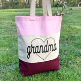 GRANDMA HEART CANVAS TOTE BAG - Ice Cream Life