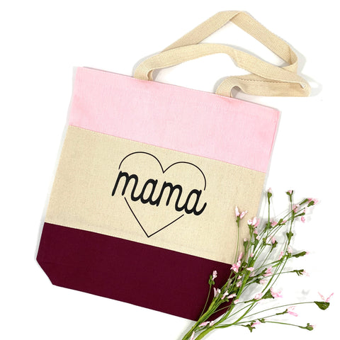 MAMA HEART CANVAS TOTE BAG - Ice Cream Life