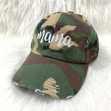 MAMA CAMO DISTRESSED CAP - Ice Cream Life