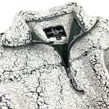 SHERPA QUARTER ZIP PULLOVER - FROSTY GREY - ADULT AND YOUTH SIZES