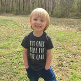 I'M ONLY HERE FOR THE CAKE - CHARCOAL KID SHIRT - Ice Cream Life