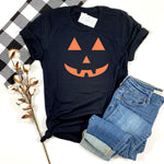 JACK O LANTERN FACE ADULT SHIRT - BLACK - Ice Cream Life