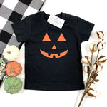 JACK O LANTERN FACE KIDS SHIRT - BLACK - Ice Cream Life