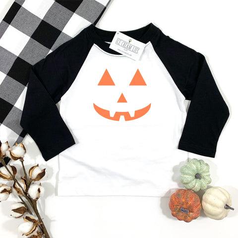 JACK O LANTERN KIDS RAGLAN SHIRT - Ice Cream Life