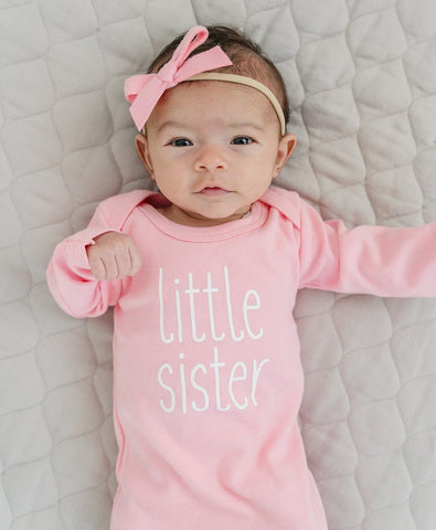 LITTLE SISTER BABY GOWN