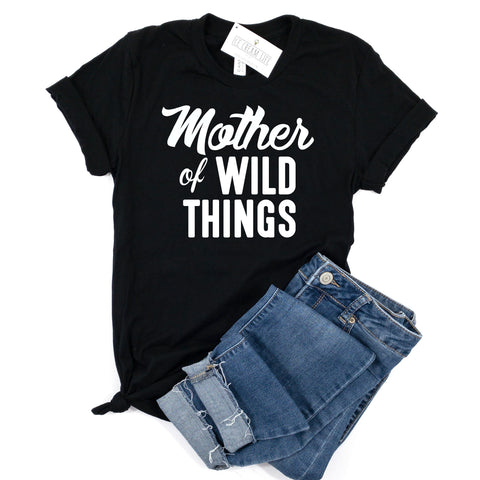MOTHER OF WILD THINGS - BLACK SHIRT