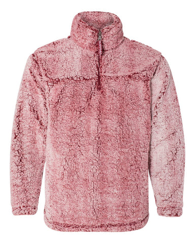 SHERPA QUARTER ZIP PULLOVER - FROSTY GARNET - ADULT AND YOUTH SIZES